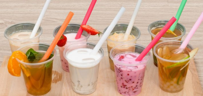 Verres de bubble tea