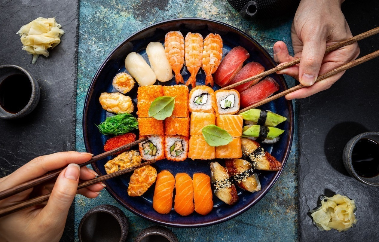 Assiette de sushis